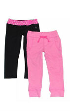 Vigoss Girls 2pc Athletic Capri Pants Set Yoga Pant & Drawstring Jogger Pink NWT