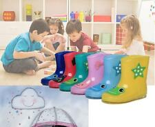 New Kids Cartoon Rain Boots Boys Girls Rubber Wellies Rain Snow Childrens shoes