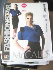 NEW McCALLS SEWING PATTERN M6788 EASY KNITS MISSES DRESSES Sz 6-22 UNCUT