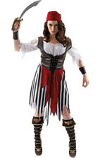 Ladies Caribbean Pirate Womens Buccaneer Outfit Fancy Dress Costume