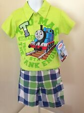 NWT ADORABLE THOMAS THE TANK ENGINE, BOYS 2-PIECE SHORTS SET 3T  & 4T