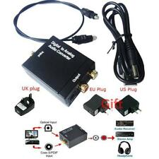 ~Digital Optical Coaxial Toslink Signal to Analog Audio Converter Adapter RCA~*