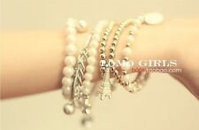 Newest Creative Bracelet Mix Beads Bangle Colors Wonens Gift Rhinestone Alloy
