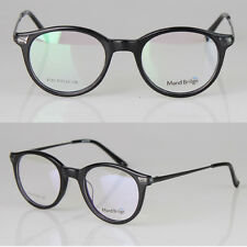 Retro Round Eyeglass Frames Full Rimless Glasses Frame Acetate 8123 Black
