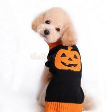 Halloween Pumpkin Pet Dog Sweater Knitwear Clothes Apparel Clothing XXS-XXL