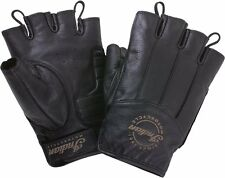 Womens Fingerless Gloves - Black Leather - by Indian Motorcycle 2863721
