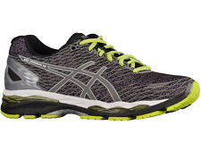 NEW MENS ASICS GEL-NIMBUS 18 RUNNING SHOES TRAINERS BLACK / SILVER / SULPHER SPR