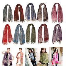 NEW Floral Womens Long Soft Cashmere Scarf Wrap Large Winter Shawl Stole Scarves