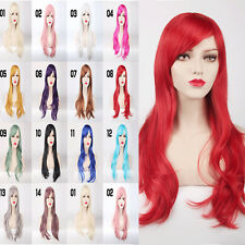 27'' Hair Wigs Women Lady Anime Long Curly Wavy Party Cosplay Full Wig 14 Colors
