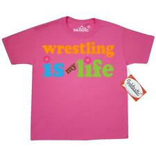 Inktastic Wrestling Is My Life Youth T-Shirt hobbies hobby sport wrestler sports