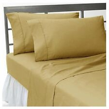 OFFER BEDDING SHEETS COLLECTION 1000TC EGYPTIAN  COTTON TAUPE  SOLID  ALL SIZE