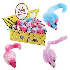 ZANIES FURRY RAINBOW  RATTLE  MICE CAT OR KITTEN TOYS SOLD IN 5.10,20,30,AND 60