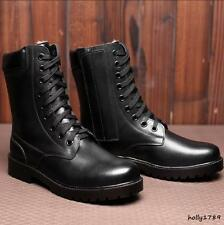 Mens Military combat tactic fur lined winter troops high top lace up ankle boots
