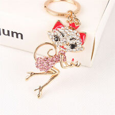 Crown Princess Fox New Crystal Pendent Charm Purse Bag Key Chain Ring Party Gift