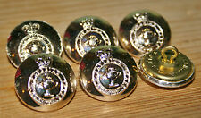 6x Army Catering Corp Military Gold Buttons 14mm, 20mm or 25mm Reenactment