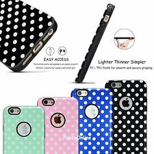 Cute Polka dots Textured TPU Hard Slim Hybrid Case Cover For iPhone 6 6S Plus