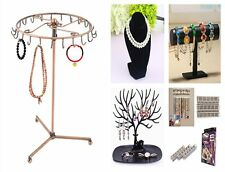 23 Hooks Earrings Necklaces Jewelry Rack Display Show Stand Key Holder IG