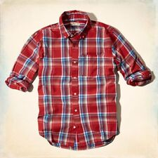 NWT Hollister Boneyard Beach Plaid Shirt Small