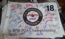 Phil Mickelson plus field Signed 2005 PGA Championship Flag Autograph