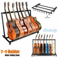 MultiGuitar Stand 7/9 Holder Folding Organizer Rack Stage Bass Electric Acoustic