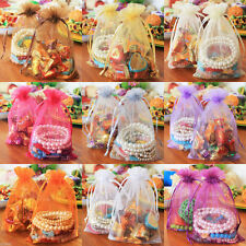New 12x9CM Pure Organza Wedding Birthday Party Favor Gift Candy Bag 25 50 100Pcs