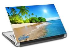 Tropical Beach Waves Personalized LAPTOP Skin Vinyl Decal Sticker ANY NAME L251