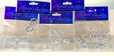 ELEGANZA CIRCLE,OVAL, RECTANGLE OR SQUARE DIAMANTE CRYSTAL BUCKLE RIBBON SLIDERS