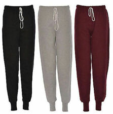 Womens Ladies girls Plain fleece Jogging tracksuit Bottoms trousers joggers