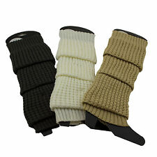 Winter Crochet Warm Ribbed Boot Leg Warmers Over The Knee Thigh High Knit Warmer