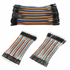 40 Pcs Dupont Jumper Wire M-M / M-F / F-F Cable Pi Pic Breadboard For Arduino UK