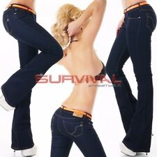 Womens Jeans New Boot Cut Dark Blue Stretch Denim Sexy Low Rise Sz 6 8 10 12 14