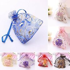 25/50/100 Organza Gift Bags Jewellery Packing Pouches Wedding Xmas Party Favours