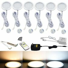 Dual Color Warm+White LED Under Cabinet Lights Kit with IR Remote Controller