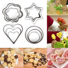 New 3pcs Stainless Steel Pastry Cookie Biscuit Cutter Cake Decor Mold Mould Tool