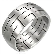 Ring Made of Stainless Steel LABYRINTH stylish Unisex Silver