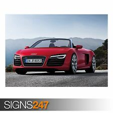 AUDI R8 SPYDER - (AA736) CAR POSTER - Photo Picture Poster Print Art A0 to A4