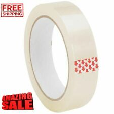 """CLEAR TAPE BIG ROLLS PARCEL PACKING SELLOTAPE 1"""" 25MM X 66M CELLOTAPE PACKAGING"""