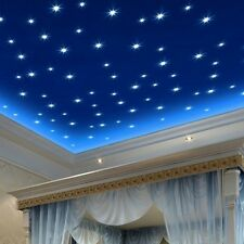 Colorful Star Wall Stickers Glow In The Dark Decal Kids Baby Room Decor 100pcs