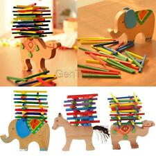 Wooden Stackins Animal Stack Up Sticks Blocks Puzzles Game Kids Fun Toys Gifts