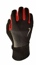 Nike NRG57055 Men's Thermal Tech Running Gloves Black Red Touch Screen Key Pock