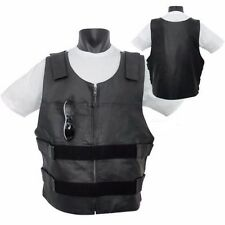 Bullet Proof Leather Motorcycle Vest Replica for Bikers Tactical street leather
