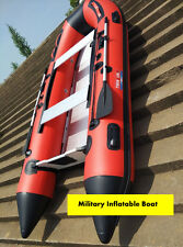 RED 1.2mm PVC 14.5 ft Military Heavy Duty Inflatable Boat - V430  Seal Team Boat
