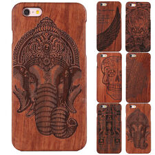 Natural Wood Bamboo Pattern Hard Back Case Phone Cover For New iPhone 7 / 7 Plus