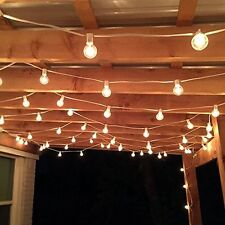 Patio String Lights Bulbs Outdoor Lighting 100 Ft. Clear Garden Backyard Globe