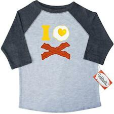 Inktastic I Love Bacon And Eggs Toddler T-Shirt Heart Fried Egg Pinkinkartkids
