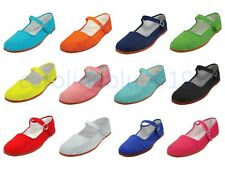 Womens Cotton Mary Jane Shoes Ballet Ballerina Flats Shoes 12 Colors