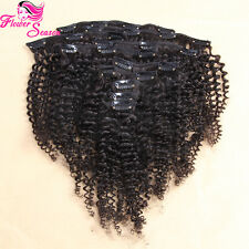 10-28inches Kinky Curly Clip In Hair Extensions 100% Human Hair Mongolian Hair