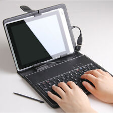 "Universal 7"" 8"" 9"" tablet MID micro USB keyboard protection folio leather case"