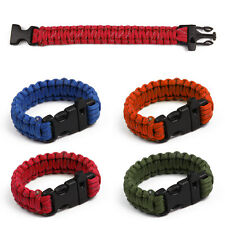 Reflective Rope Gear Kits Outdoor Rope Paracord Survival Bracelet with Whistle