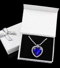 Crystal Silver pendant Necklace Titanic heart of the ocean Valentine's day Gift